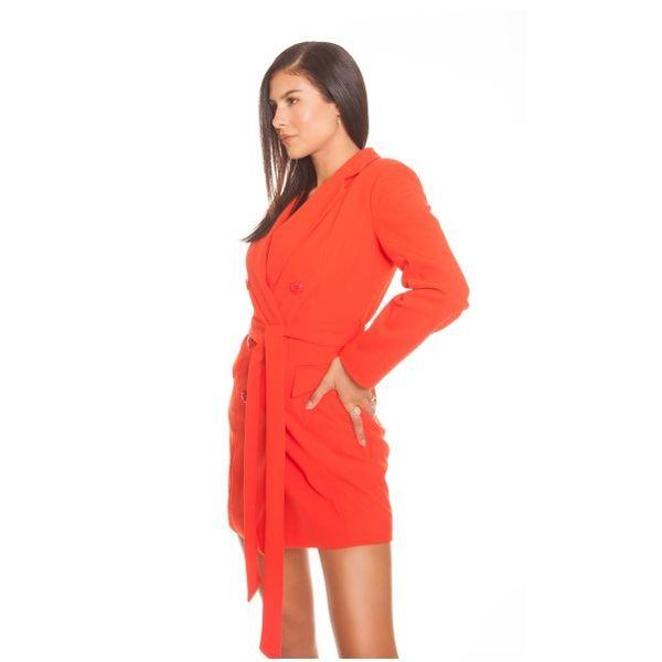 CREPE BLAZER DRESS ORANGE