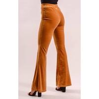 Flared velvet pants Mustard