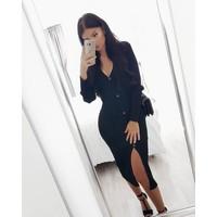 Black button vest/dress