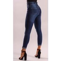 High waist jeans ruffles up!