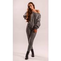 Grey offshoulder comfy set