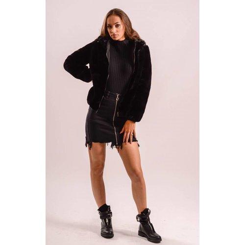 Black soft coat