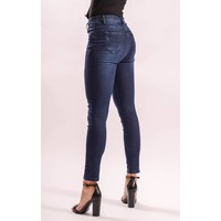 Highwaist jeans dark blue long length