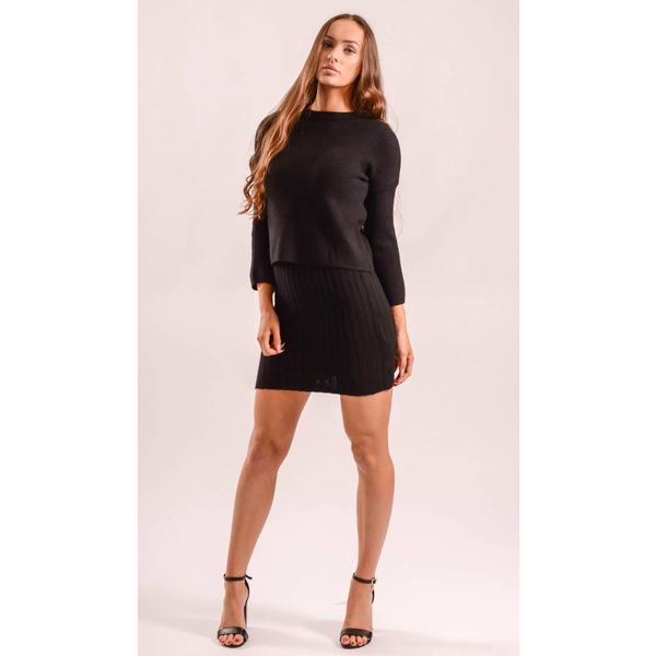 Two piece set black dress/sweater
