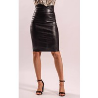 Highwaist Leatherlook skirt
