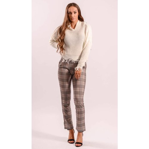 Checkered pants grey