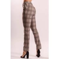 Checkered pants grey