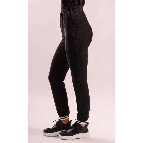 Tracksuit pants glitter black