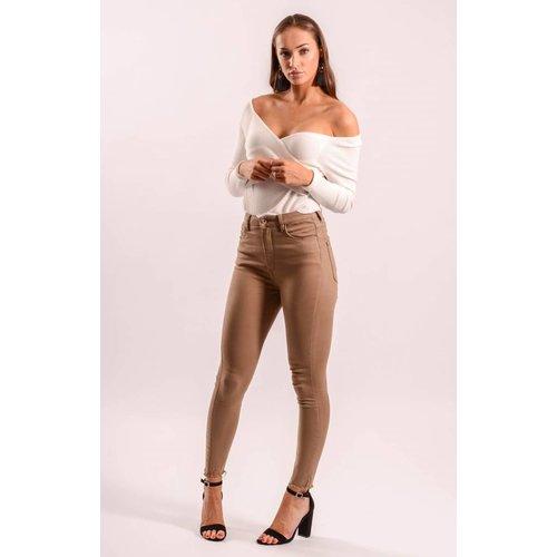 Super highwaist jeans beige