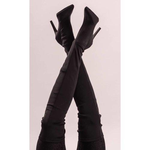 Black heels high bandage