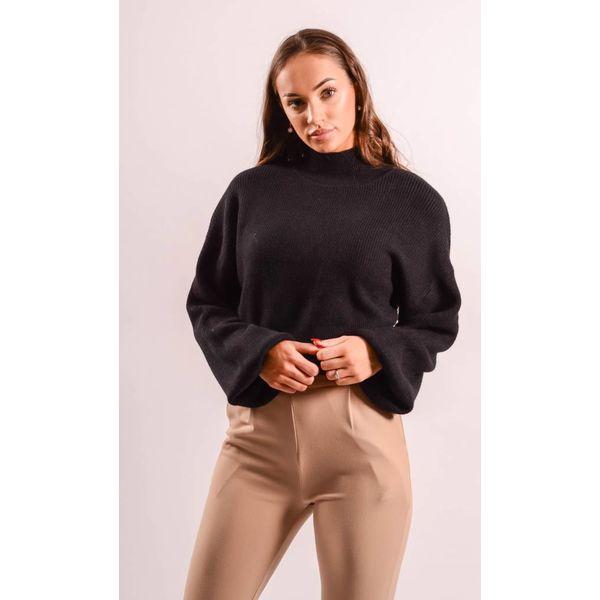 Crop Sweater balloon black