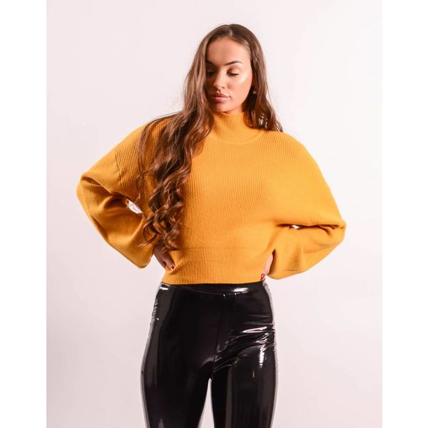 Crop Sweater balloon yellow