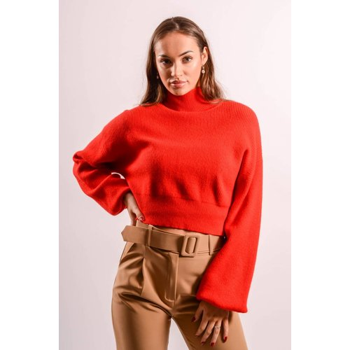 Crop Sweater balloon red
