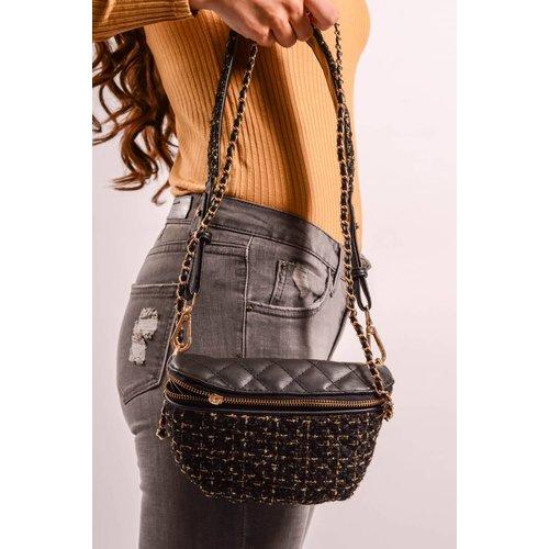 Waist Bag Tweed Black/Gold