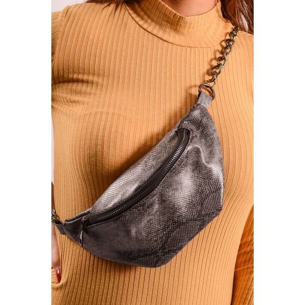 Waist Bag Snake Black