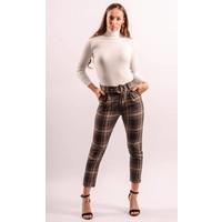 AY 8306 Pantalon belt checkered