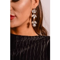 Earrings white floral