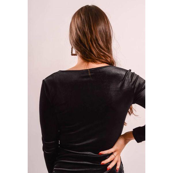 Velvet dress crossover black