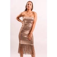 Sequin dress rose