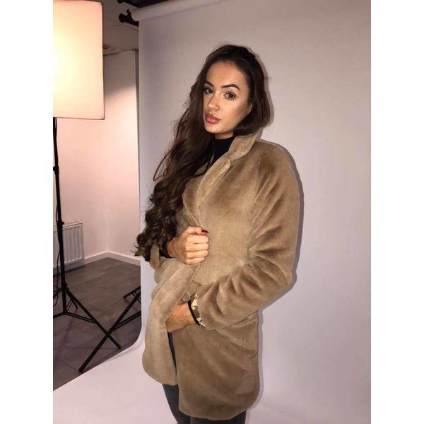 Soft fluffy Coat Beige