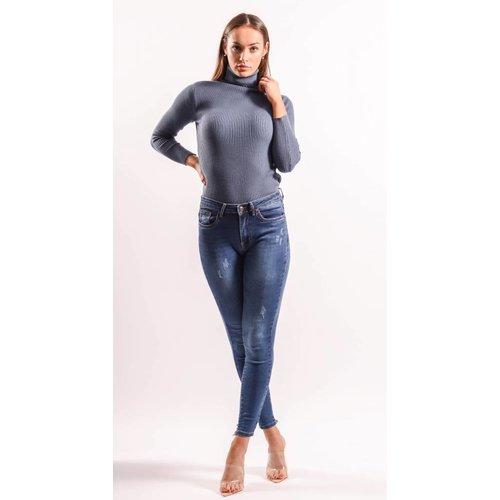 Highwaist Jeans ripped back