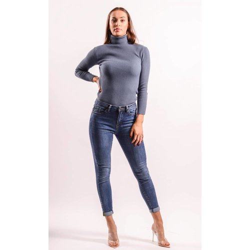 Highwaist jeans basic long length