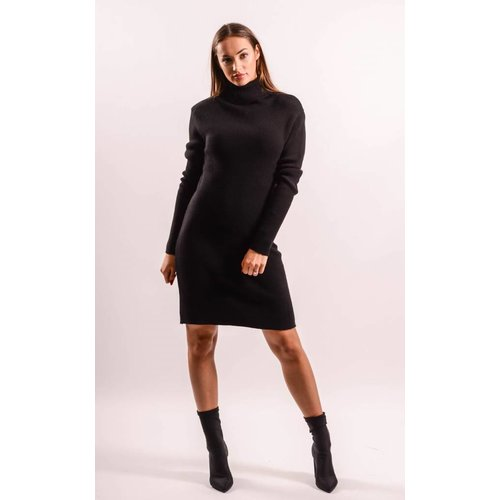 Dress high turtle neck Black
