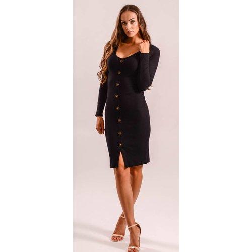 Dress button up black