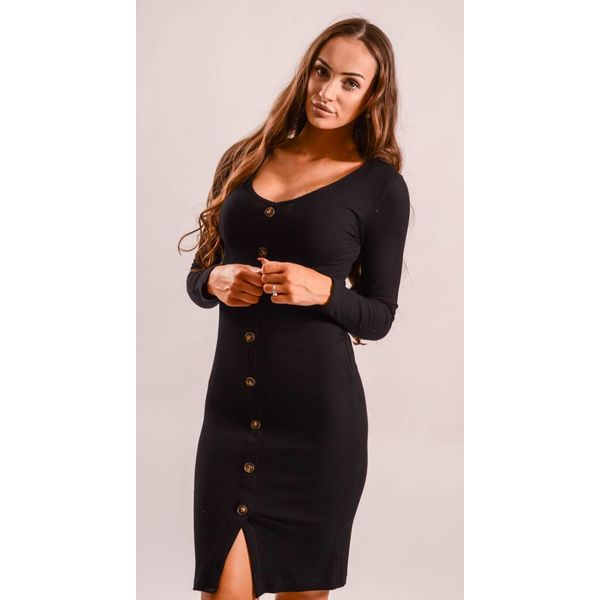 Dress button up black