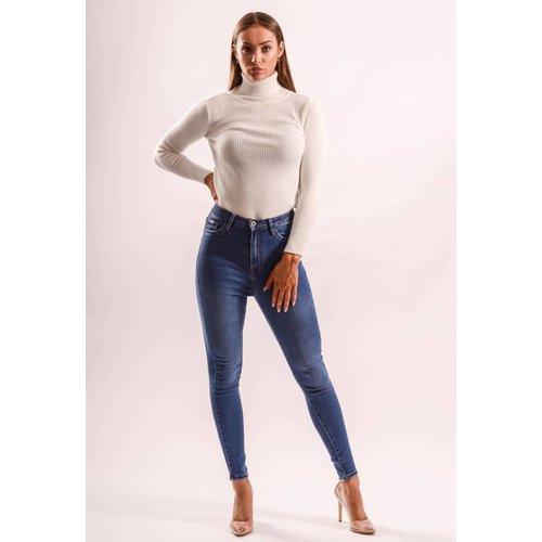 Superhighwaist jeans dark blue