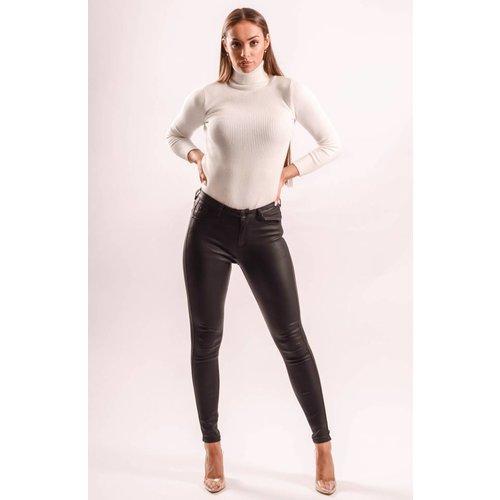 Highwaist jeans black coated