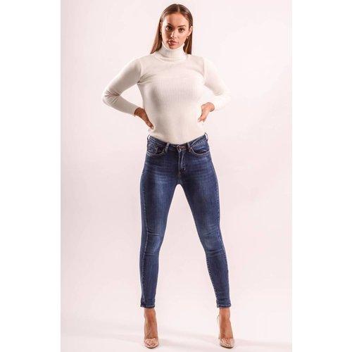 Highwaist jeans basic blue long length