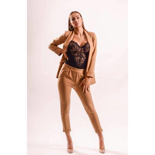 Pantalon chic camel