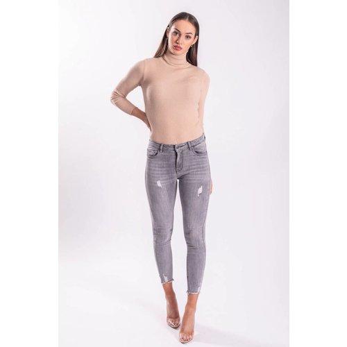 Highwaist jeans basic grey