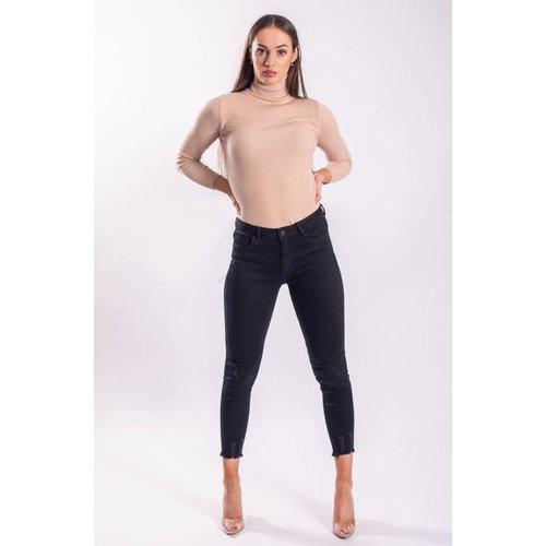 Highwaist jeans basic black