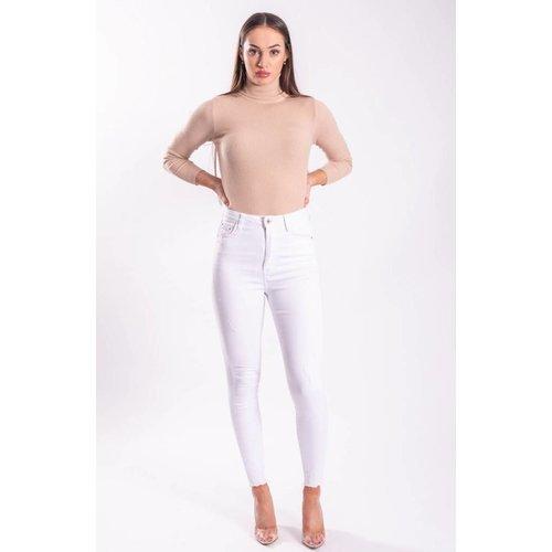 Superhighwaist jeans basic white