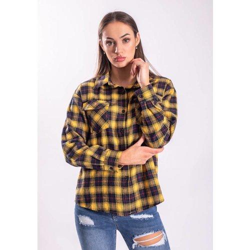 Blouse checkered yellow