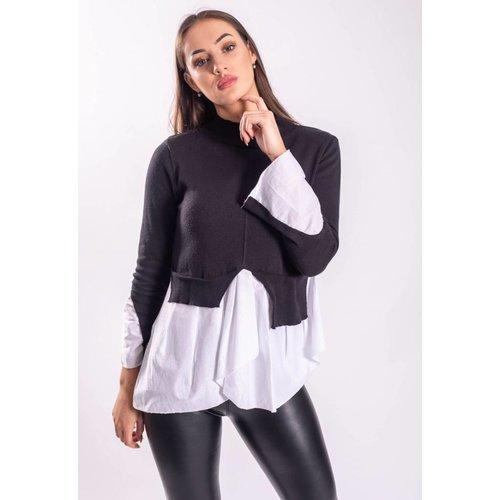 Turtle neck / blouse black