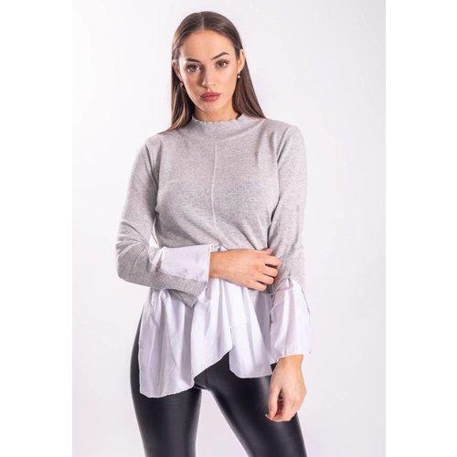 Turtle neck / blouse grey