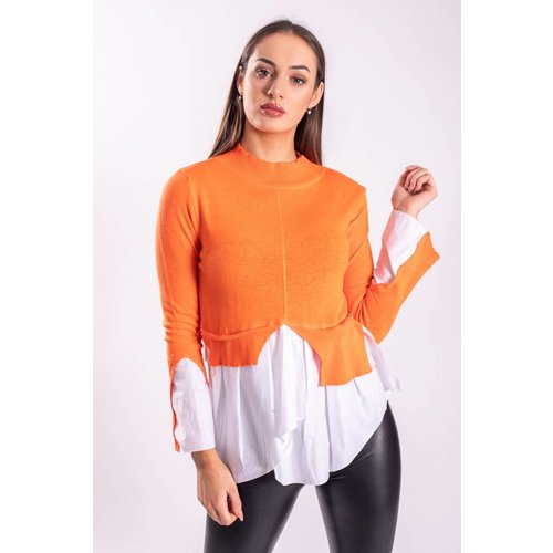 Turtle neck / blouse orange