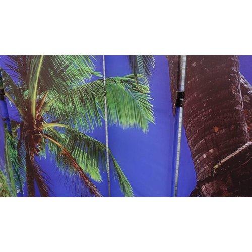 Kamerscherm Paravent Strand en Palmboom