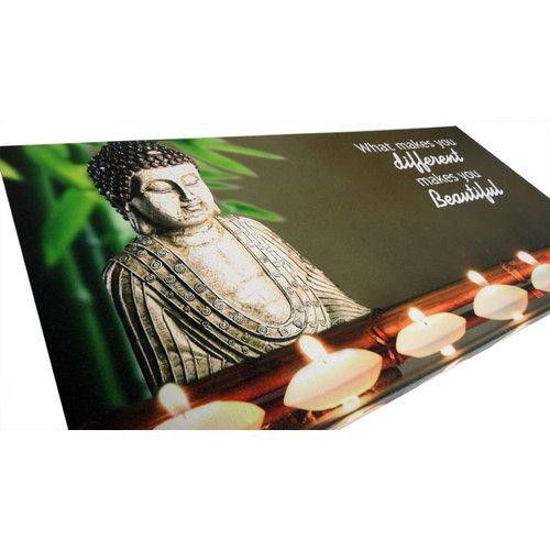 Boeddha Schilderij met verlichting - Beautiful