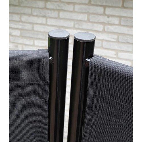 Breed Kamerscherm Zwart 2 meter hoog