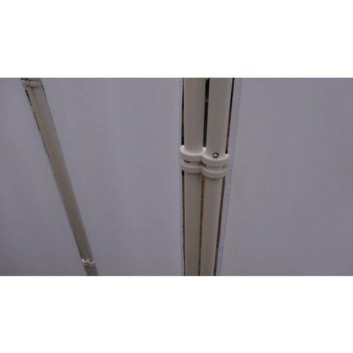 Breed Kamerscherm  Wit 2 meter hoog