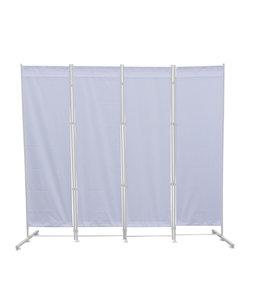 Kamerscherm - Paravent Staal Frame Wit Polyester Doek
