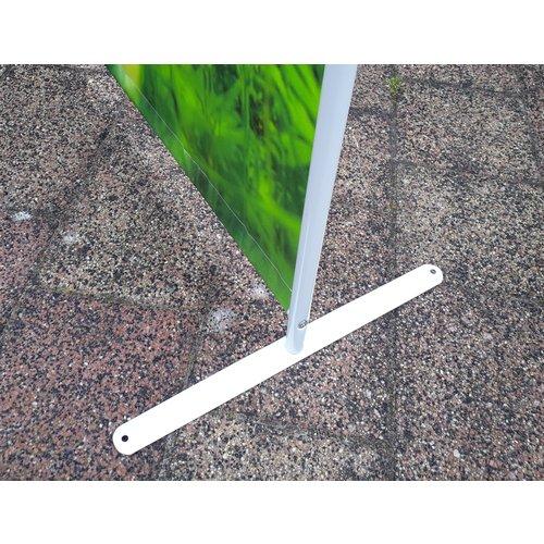 Kamerscherm Scheidingswand metalen voet 2x