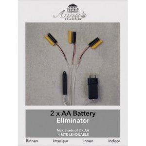 Batterij Vervanger 2xAA  3 aansluitingen