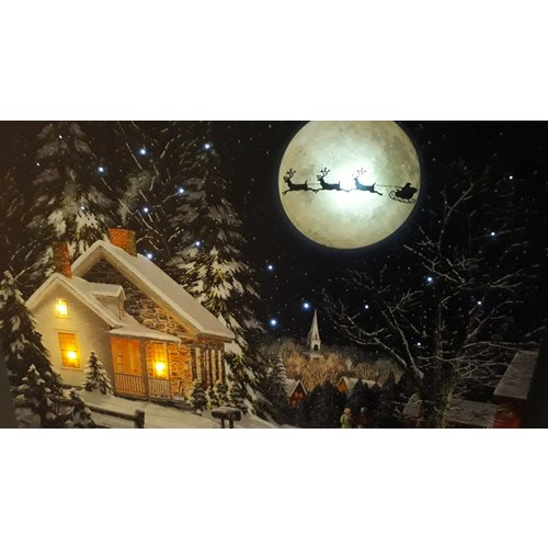 Kerst Schilderij met LED verlichting