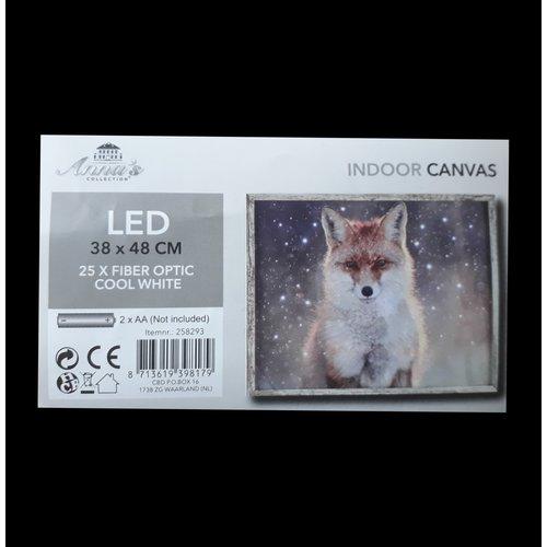 LED Canvas Schilderij Vos
