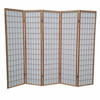 Japans Kamerscherm Naturel 5 panelen